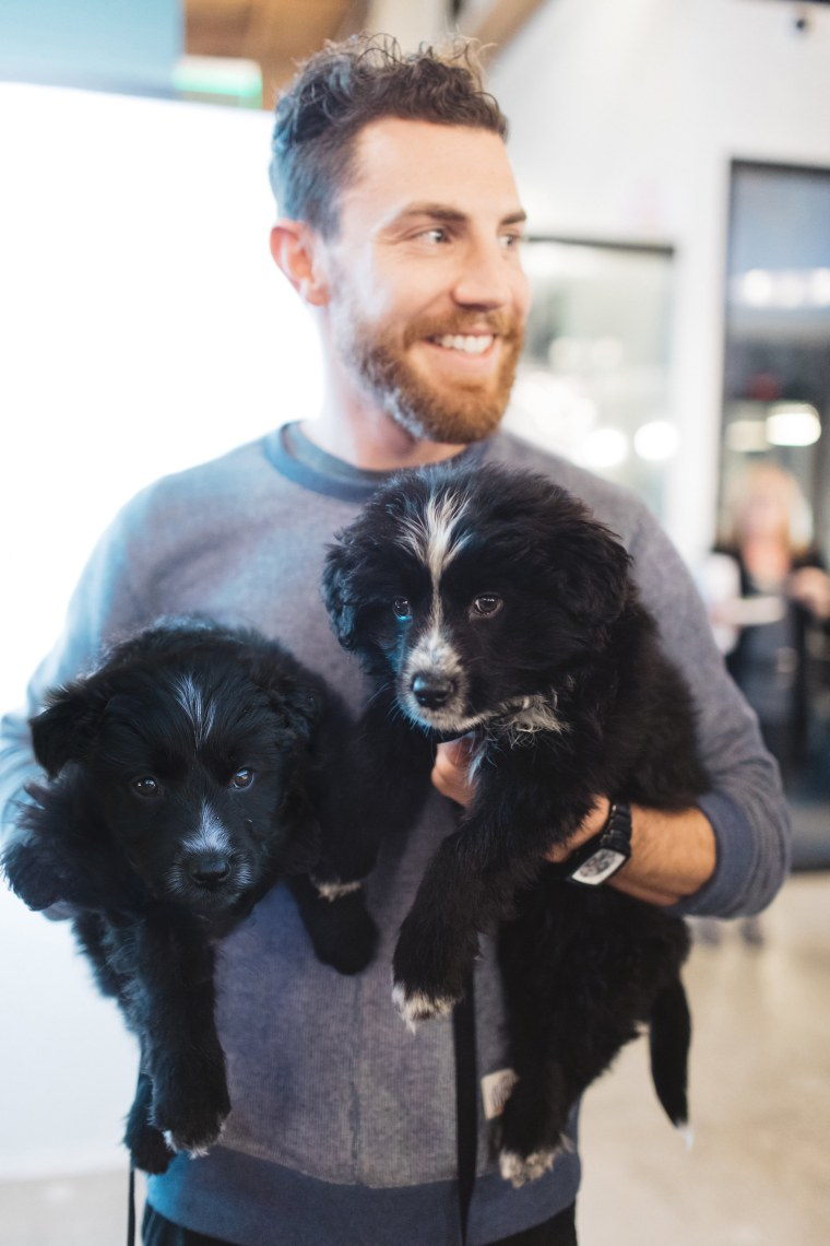 "The ""Adventure Squad:"" Jordan Kahana and rescue dogs Zeus and Sedona"