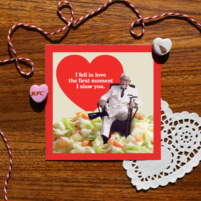 Colonel Sanders spreads the love this Valentine's Day with scratch n' sniff cards.
