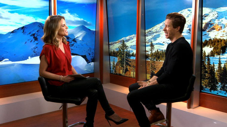 Natalie with Shaun White