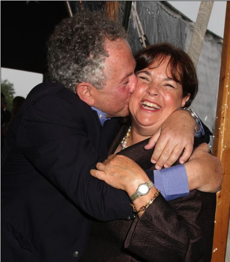 Jeffrey Garten kissing Ina Garten