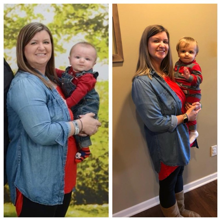 Even though chasing after twin toddlers means Kelly Magnarini has little time for herself, she changed her diet and added exercise to her schedule and lost 57 pounds.
