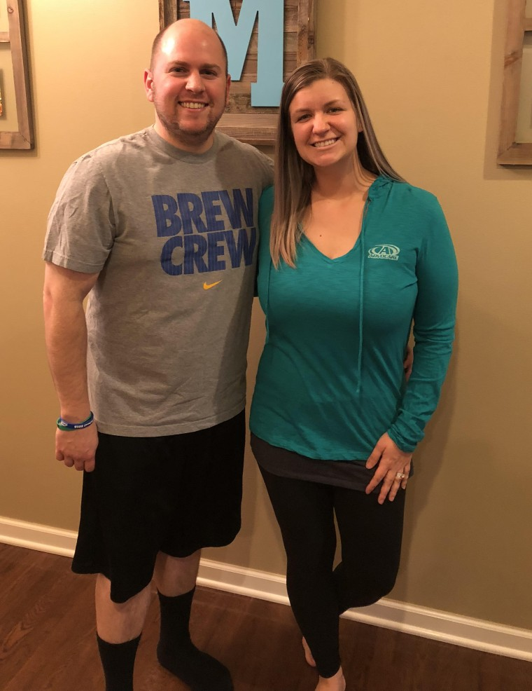 In less than a year, Kelly lost 57 pounds and Mike lost 58 pounds. They say doing it together makes it easier.