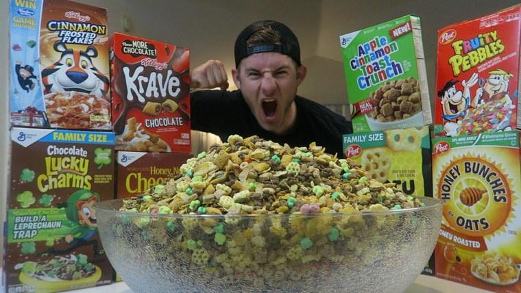 Erik Lamkin cereal mukbang
