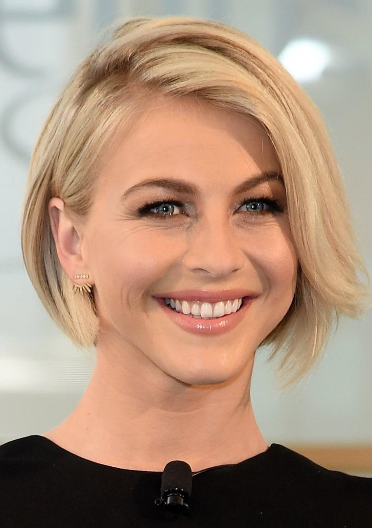 Julianne Houghe blonde hair photo