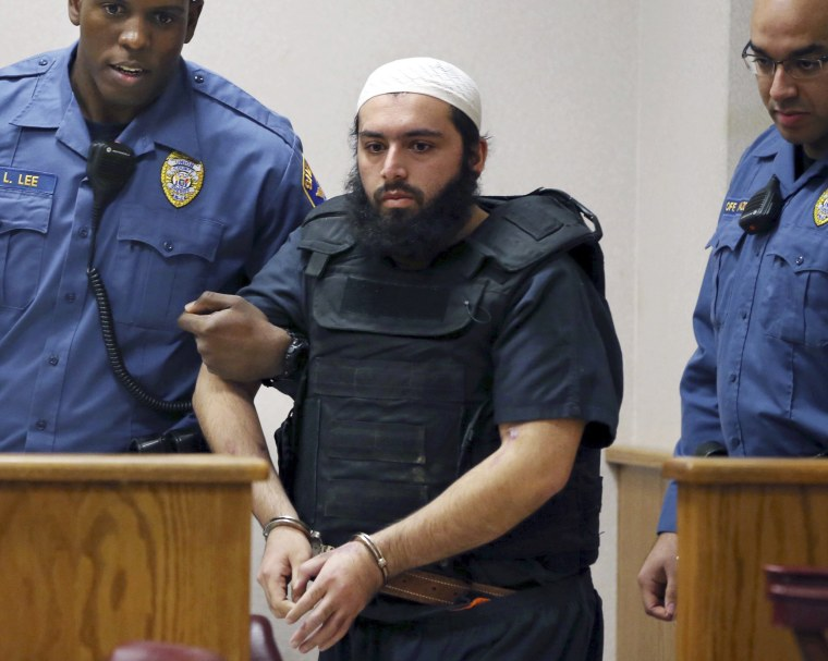 Image: Ahmad Khan Rahimi is led into court in Elizabeth, New Jersey on Dec. 20, 2016.