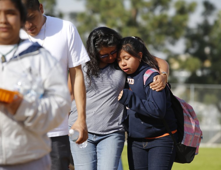 Image: Los Angeles school shooting aftermath