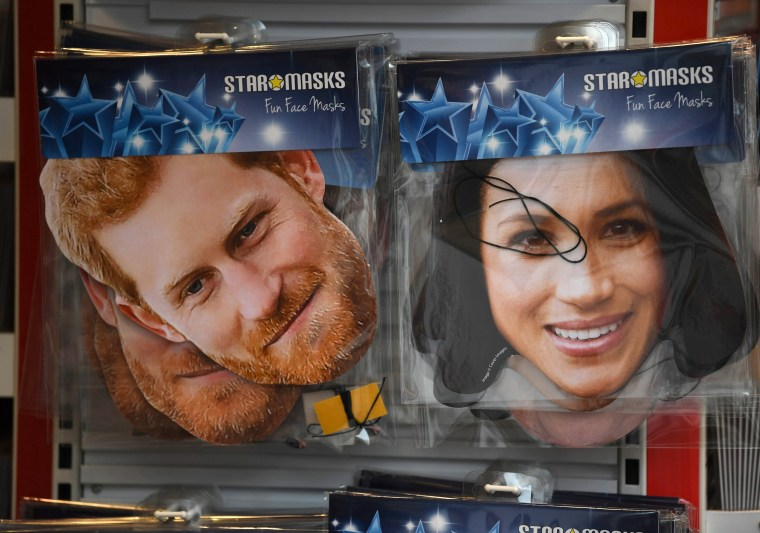 Image: Prince Harry and Meghan Markle masks