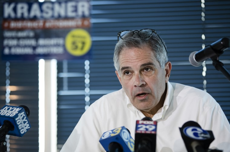 Image: Philadelphia district attorney Larry Krasner