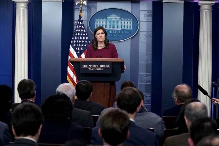 Image: White House Press Secretary Sarah Sanders Holds Press Briefing