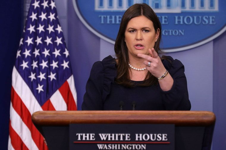 Image: White House Press Press Secretary Sarah Sanders Holds Press Briefing At White House
