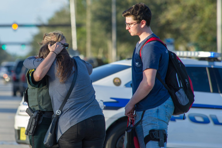 Image: School shooting in Parkland, Florida