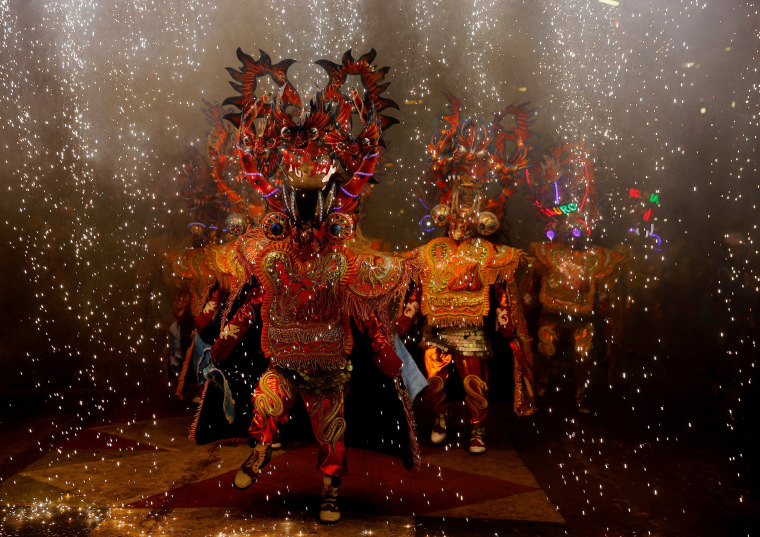 Image: Members of Diablada Urus group perform during Carnival in Oruro