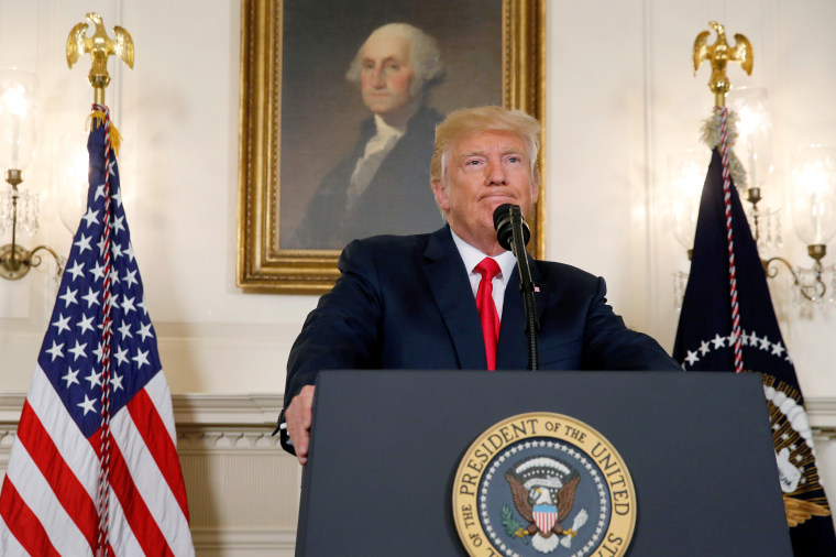 Trump pauses during a statement on the deadly protests in Charlottesville, at the White House in Washington
