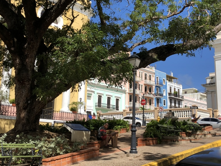 A view of Cristo Street in Old San Juan in January.