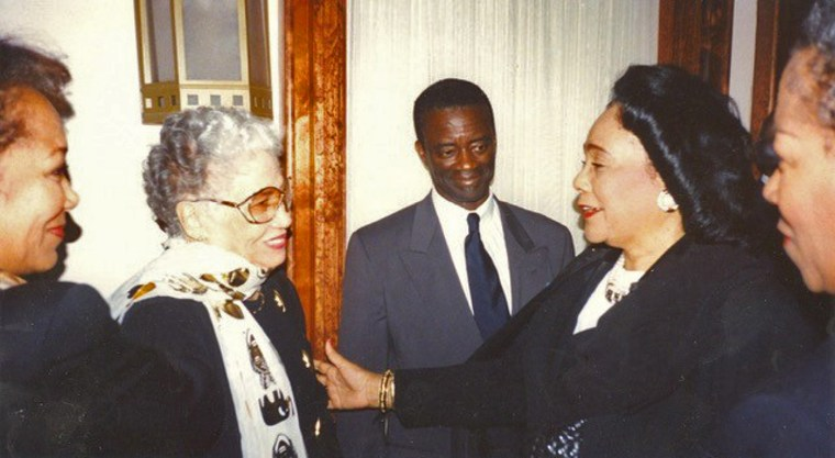 Freddye Henderson with Coretta Scott King, right.