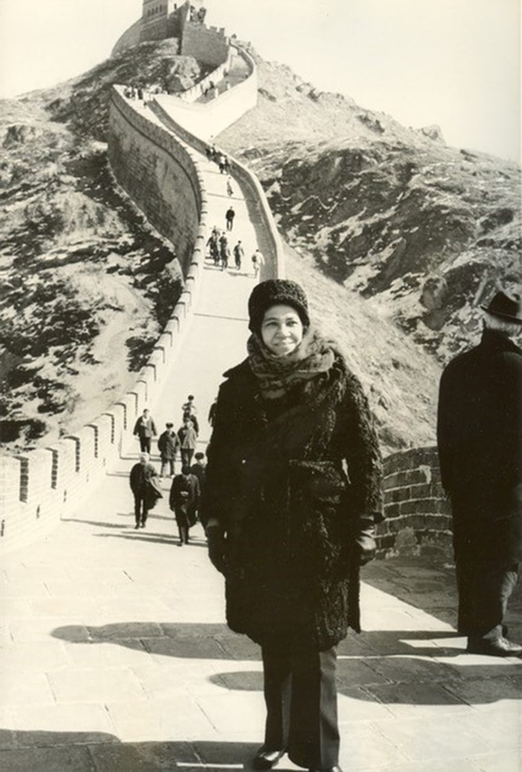 Freddye Henderson at the Great Wall of China.
