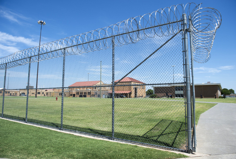 Image: The prison yard at the El Reno Federal Correctional Institution