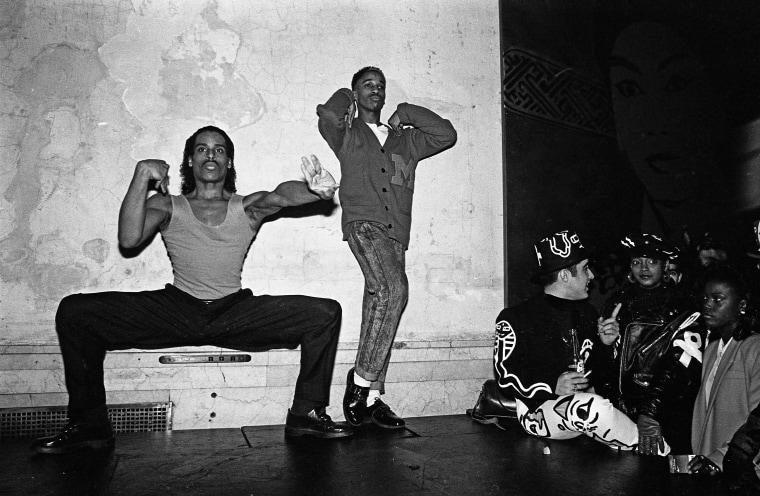 Image: Willi Ninja, left, and dancer voguing at nightclub Mars in 1988 in New York City, New York.