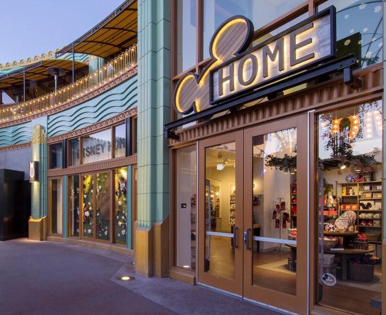 The entrance to Disney Home in the Downtown Disney District in California.