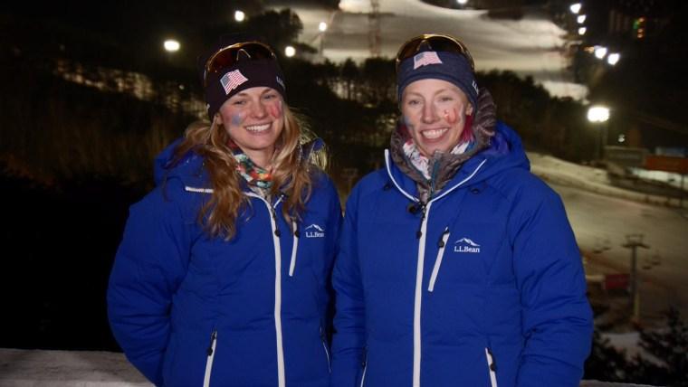 Women X-Country Skiers Jessica Diggins and Kikkan Randall