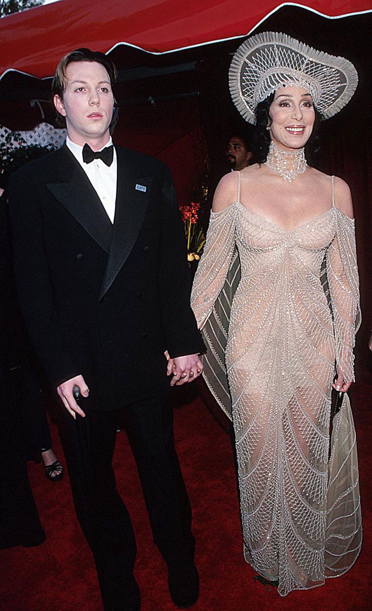Cher and her son Elijah Blue Allman.