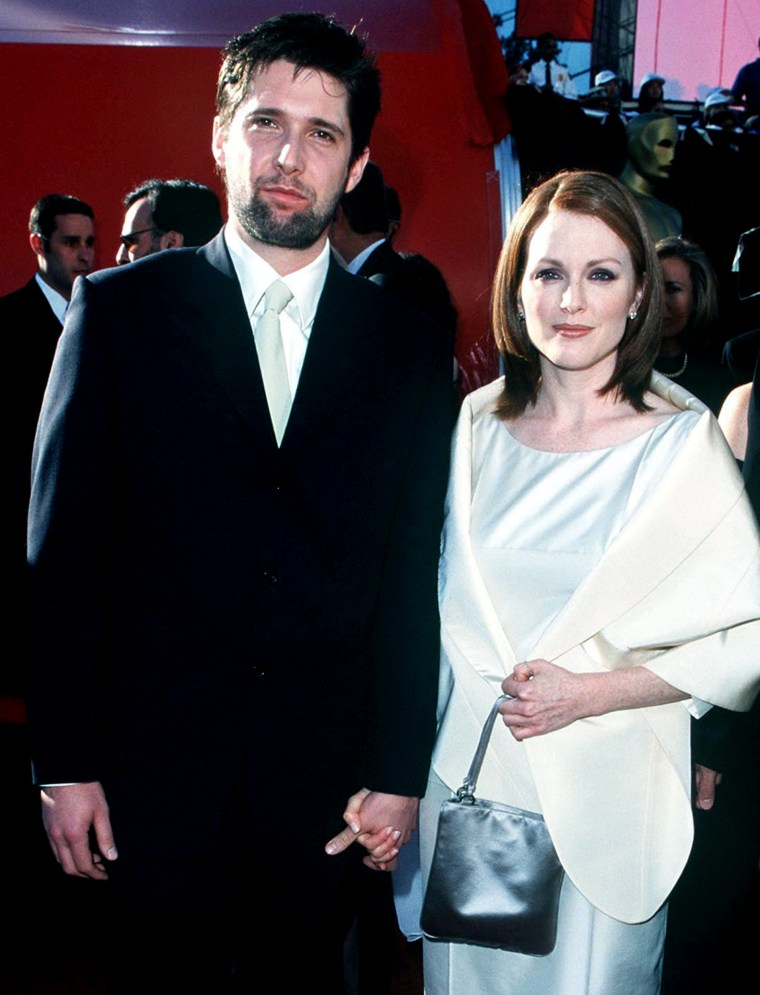 Bart Freundlich and Julianne Moore during The 70th Annual Academy Awards - Red Carpet at Shrine Auditorium in Los Angeles, California.