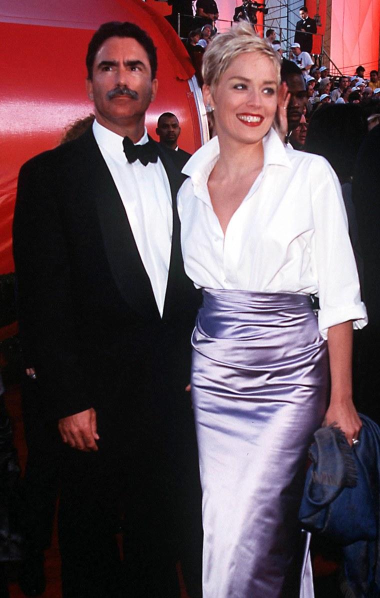 Sharon Stone and husband Phil Bronstein.