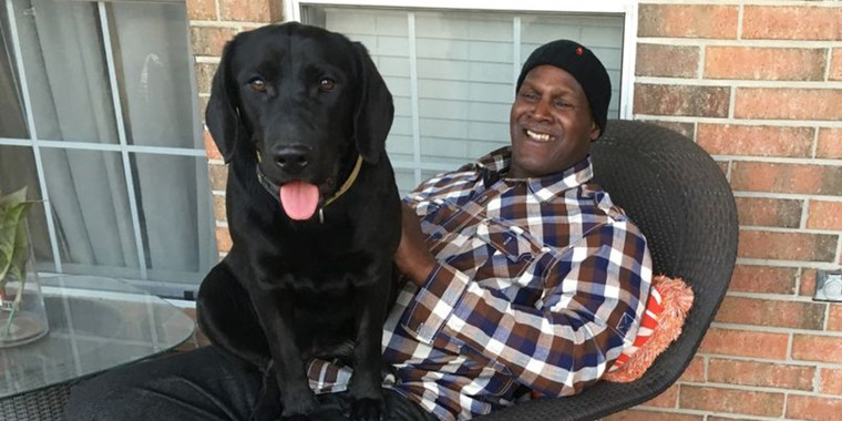 Man exonerated after 38 years goes home with the puppy he raised in prison