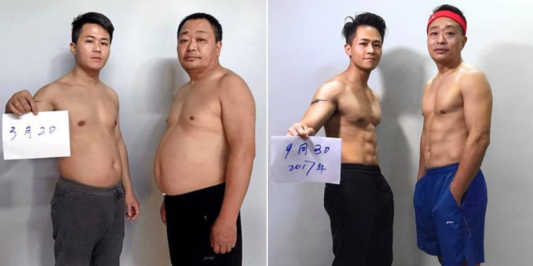 Both Jesse and his dad lost weight and added muscle mass. They were so successful because they did it together.