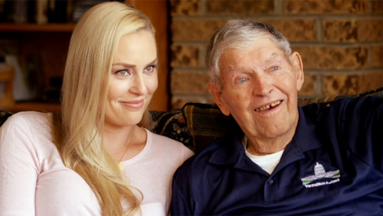Lindsey Vonn and her grandfather