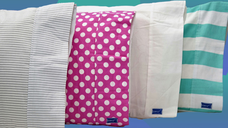 The towel absorbs moisture from sweat, drool and wet hair so you can sleep comfortably without worrying about a damp pillowcase