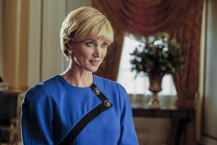 Bonnie Soper portrays the legendary Princess Diana in Harry & Meghan: A Royal Romance, premiering on Lifetime.