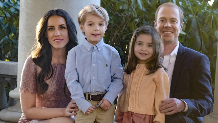 """Burgess Abernethy and Laura Mitchell Cast as Prince William and Catherine Middleton in The Lifetime Feature """"Harry & Meghan: A Royal Romance"""" alongside with Preston Karwat and Briella Wintraub as Prince George and Princess Charlotte."""