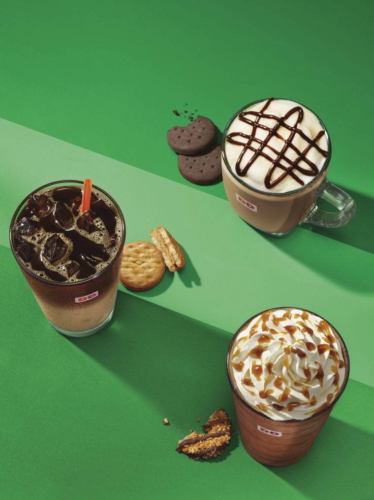 Dunkin' Donuts Girl Scout inspired flavors are available February 26 through May nationwide.