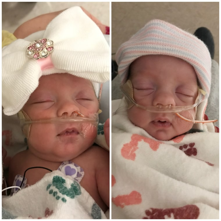 Even though they were born at just 27 weeks, Annastyn and Everly are thriving in the neonatal intensive care unit.