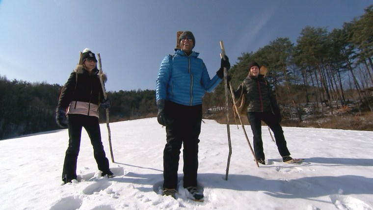 During South Korean winters long ago, hand-crafted skis and snowshoes were the only methods of transportation.
