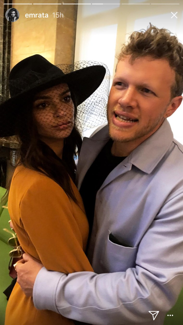 The Instagram series represents one of Ratajkowski and Bear-McClard's only public appearances together.