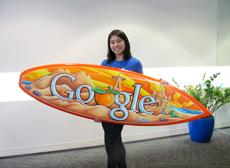 Image: Mira Leung was a Software Engineering Intern working on the Analytics Team in the Irvine Office of Google, June 12, 2014.