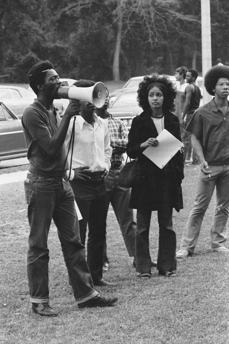 Image: Southern University students protest in the 1970s