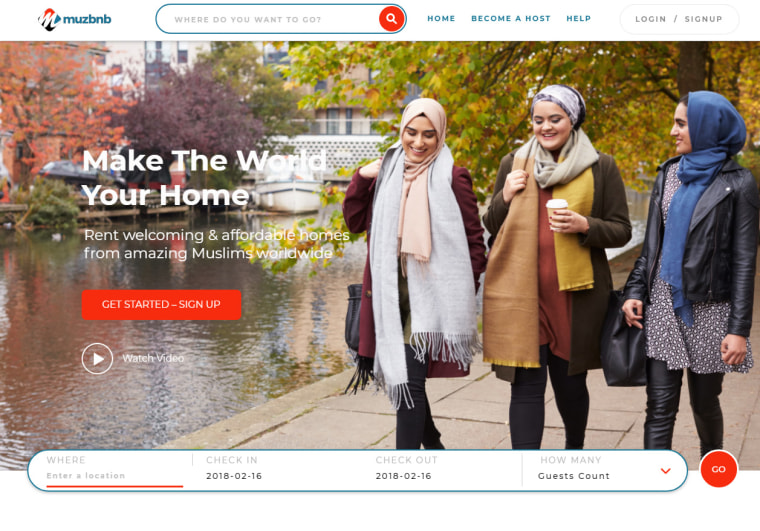 Muzbnb caters toward Muslims travelers, offering search filters that can show a listing's distance from nearby mosques and halal food.