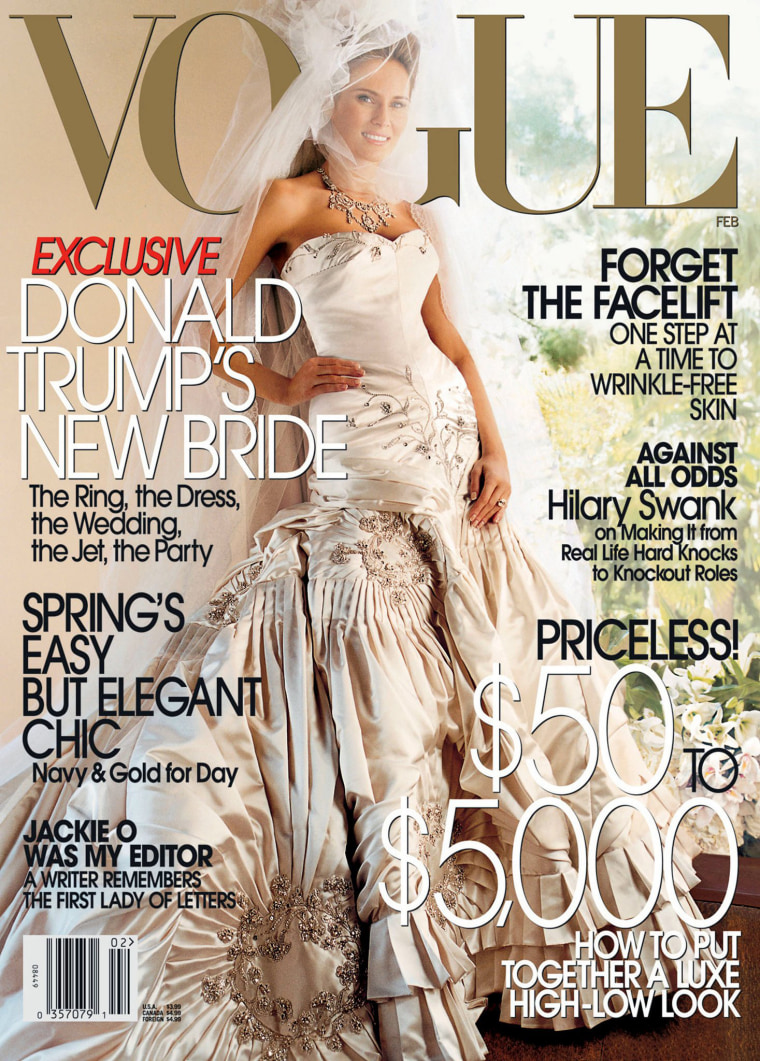 Image: Melania Trump on the cover of Vogue for the February 2005 issue.