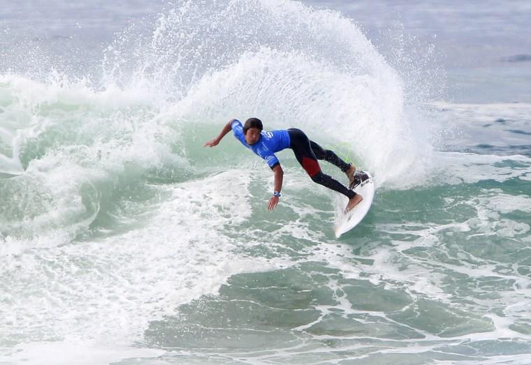Image: The american pro surfer Kanoa Igarashi