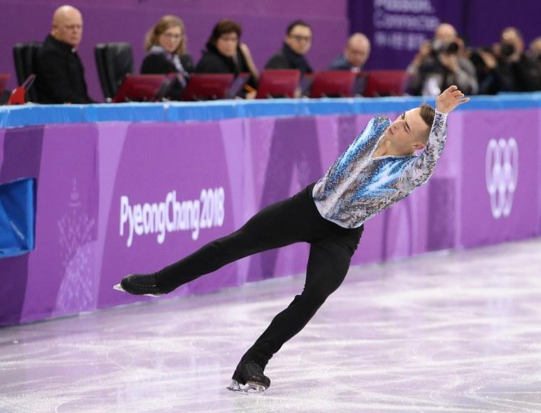 Image: Figure skater Adam Rippon