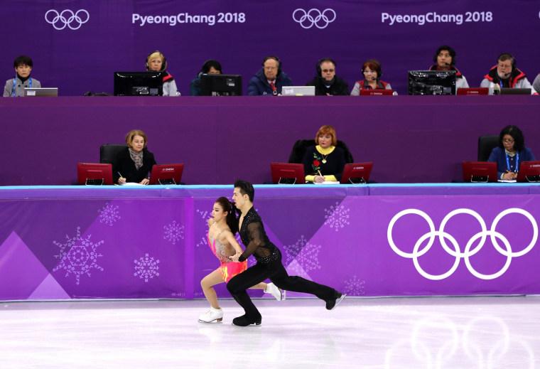 Image: Figure skaters Shiyue Wang and Xinyu Liu
