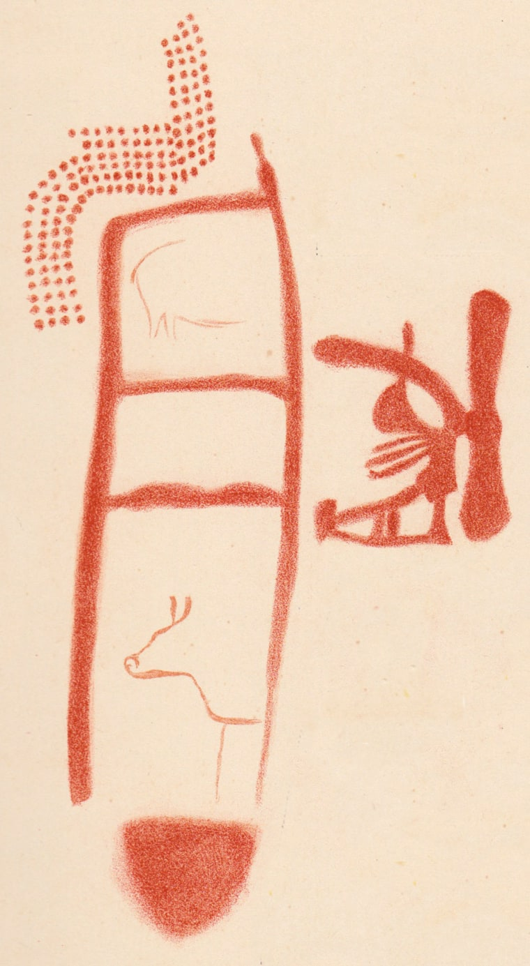 Image: Drawing of Panel 78 in La Pasiega (1913)