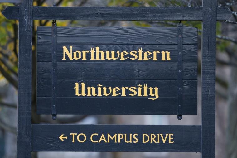 Image: The Northwestern University campus sign