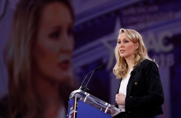 Image: Marion Marechal-Le Pen speaks at the CPAC conference held in National Harbor, Maryland