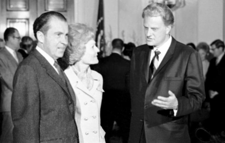 Image: Billy Graham, Richard Nixon