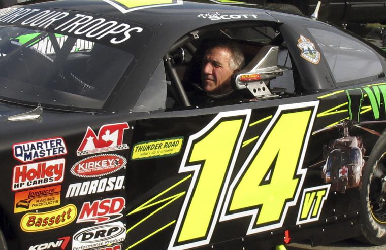 Image: Phil Scott in his stock car