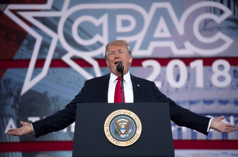 Image: President Donald Trump speaks at CPAC